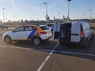 Yandex Drive - Image: Заправка автомобиля каршеринга Яндекс Драйв