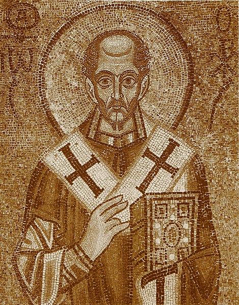 Иоанн Златоуст сер 11 в Софийский сепия.