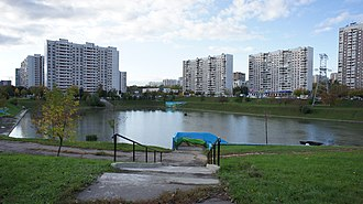 Chertanovo Severnoye District - Settling pond of Chertanovo River, Chertanovo Severnoye District