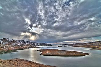 Azat River - Image: Ազատի ջրամբար ու կղզիներ