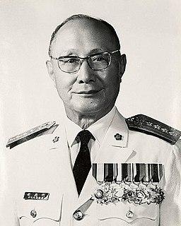 He Yingqin Taiwanese politician
