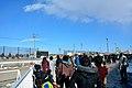 帯広競馬場で第2障害を越えてゆく人馬を見守る観客(2016年1月1日の第4競走).JPG