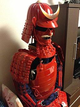 赤糸威赤桶側二枚胴具足(あかいとおどし あかおけがわ にまいどうぐそく)
