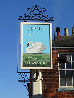-2019-02-25 The pub sign, Swan Inn, High Street, Stalham