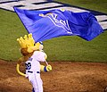 -WorldSeries Game 1- Sluggerrr celebrates (22469128808).jpg