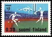 0,30 mark track and field European Championship stamp of Helsinki 1971.jpg