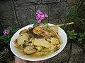 0099Nilagang repolyo, petsay Tagalog, kamote, patatas, kamatis at Pritong Dalag (Bulig) sa tanglad 09.jpg