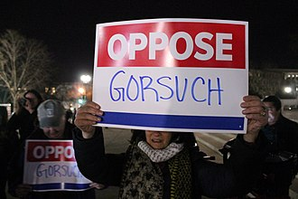 Neil Gorsuch Supreme Court nomination - Protests at the U.S. Supreme Court occurred following Gorsuch's nomination