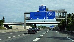 A7 autoroute - A7 Autoroute near Lyon
