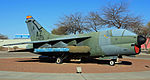 152d Tactical Fighter Squadron A-7D 70-0973 at the Pima museum entrance.jpg