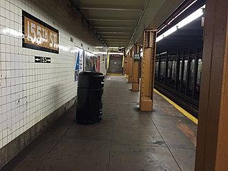 155th Street (IND Eighth Avenue Line) - Brooklyn bound platform