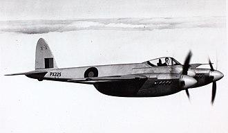 De Havilland Hornet - An RAF Hornet F.1 in level flight