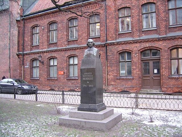 Памятник Гердеру в Риге