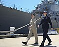 180601-N-FG909-0113 - Sailors walk the pier in the two-piece flame-resistant organizational clothing variant prototype on June 1, 2018. US Navy Photo.jpg