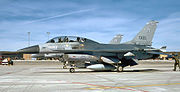 184th Tactical Fighter Group - General Dynamics F-16B Block 5 Fighting Falcon 78-0100