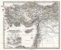 1873 Stieler Map of Asia Minor, Syria and Israel - Palestine (modern Turkey) - Geographicus - Klein-AsienSyrien-stieler-1873.jpg
