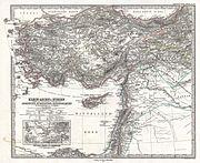 1873 Stieler Map of Asia Minor, Syria and Israel - Palestine (modern Turkey) - Geographicus - Klein-AsienSyrien-stieler-1873
