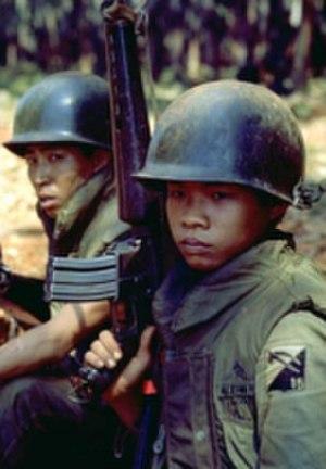 Battle of Xuân Lộc - Image: 18th ARV Nsoldiersatxuanloc by Dirck Halstead
