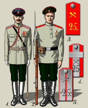 25th Army Corps (Russian Empire) - Image: 1910 25sb lpuniform