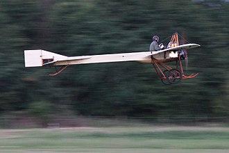 Deperdussin 1910 monoplane - The Shuttleworth  Deperdussin  BAPC-4 in flight, 2017