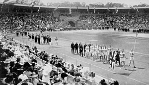 Canada at the 1912 Summer Olympics - The team of Canada at the opening ceremony.