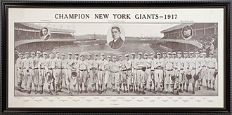 Jimmy Smith (baseball) - 1917 Champion New York Giants Team Photo