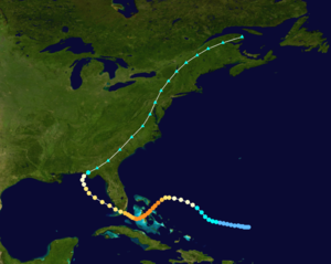 1929 Atlantic hurricane season - Image: 1929 Florida hurricane track