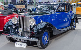 Arthur Mulliner - A limousine, 1937  on a Rolls-Royce Phantom III chassis