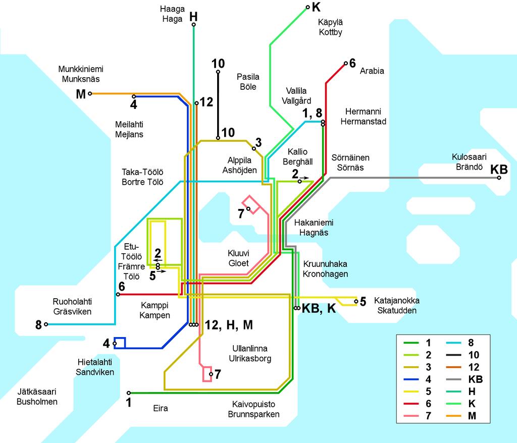 1946 Helsinki tram map