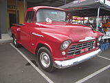 Front view of a 1956 Task Force pickup