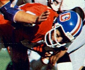 Steve Foley (defensive back) - Foley playing for the Broncos in 1977 AFC Championship Game