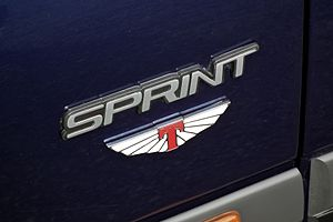 """Tickford Vehicle Engineering - The """"Tickford wings"""" badge on a Ford Falcon XR8 Sprint variant"""