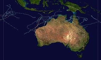 1995–96 Australian region cyclone season - Image: 1995 1996 Australian cyclone season summary