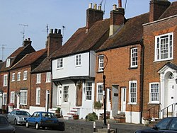 Brick And Tile Terraced Houses In England