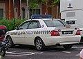 2006 Proton Waja PDRM police car in Johore, Malaysia.jpg
