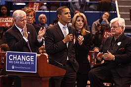 20080204 Barack Obama, Ted and Caroline Kennedy and John Larson.jpg