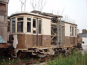 Railway Museum of Athens - Overhead line maintenance vehicle of Piraeus Harbour tram
