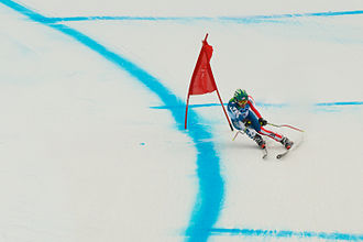 Bode Miller - Miller in the downhill at the 2010 Winter Olympics
