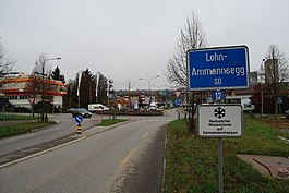The village entry of Lohn-Ammannsegg