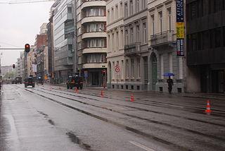 Rue Belliard Street in Brussels, Belgium