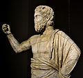 201209071644a Berlin Pergamon Museum, Statue eines bärtigen Gottes (Zeus Ammon), hellenistisch 3. Viertel 2. Jh., FO Pergamon Norden des Großen Altars 1879.jpg