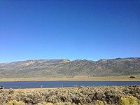 2013-09-23 17 14 40 View across Koosharem Reservoir from Utah State Route 24.JPG