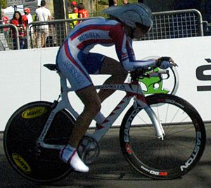2013 UCI Road World Championships – Women's junior time trial - Anastasiia Iakovenko finished fifth.