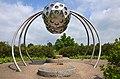"""2014-05-17 Fahrradtour Freundeskreis Hannover Maschsee Edelhof Ricklingen Park der Sinne, (257) für Groß und Klein erlebbare Skulptur """"Insektenauge"""".jpg"""