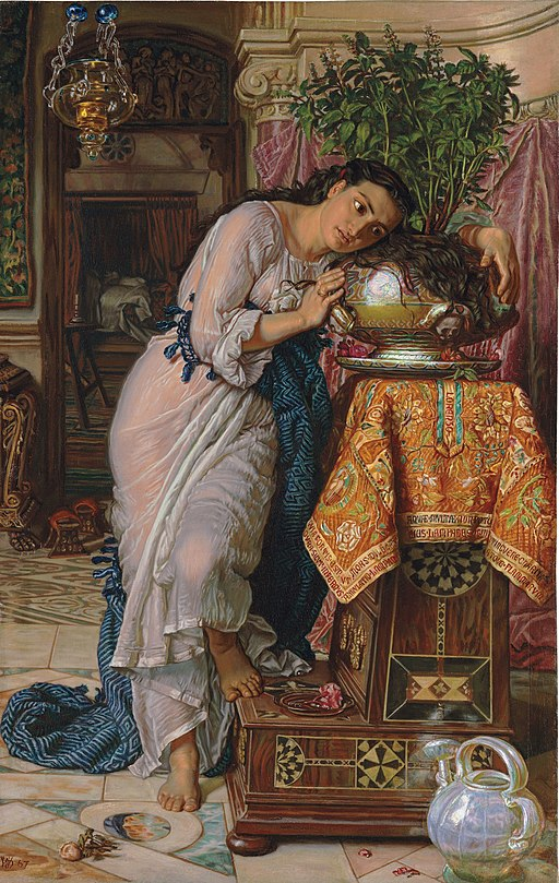 """Isabella and the Pot of Basil"" by William Holman Hunt"