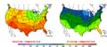 2015-10-01 Color Max-min Temperature Map NOAA.png