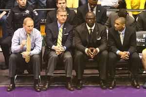 LaVall Jordan - (left to right) John Beilein, Jeff Meyer, Bacari Alexander and Jordan in 2015