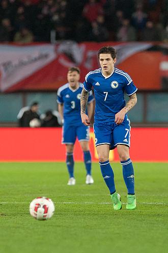 Muhamed Bešić - Bešić playing for Bosnia and Herzegovina in 2015