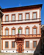 The external facade of Casa Manzoni.