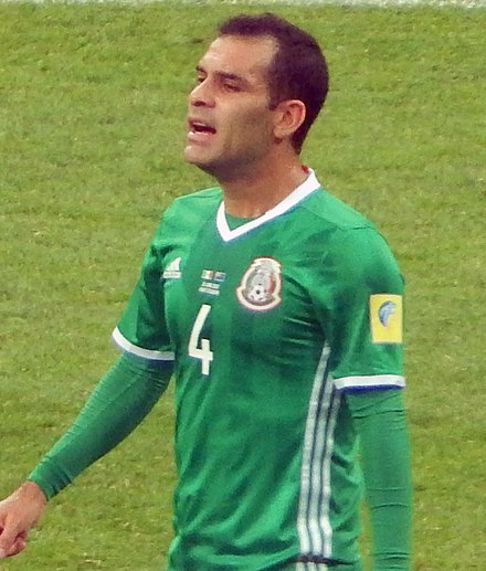 Marquez playing for Mexico at the 2017 FIFA Confederations Cup 2017 Confederation Cup - MEXNZL - Rafael Marquez (cropped).jpg